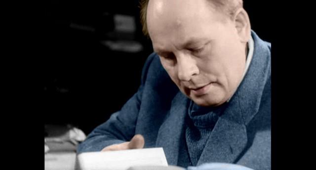 Jan Wypler w swojej pracowni - Warszawa 1949