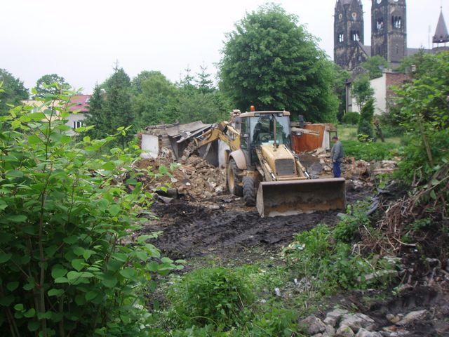 Zburzony dom Jana Wyplera